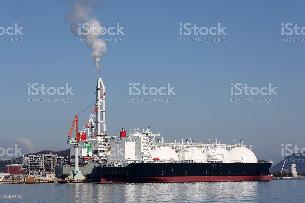 Lng cargo ship stock photo