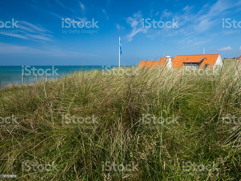 Lønstrup and the North Sea stock photo