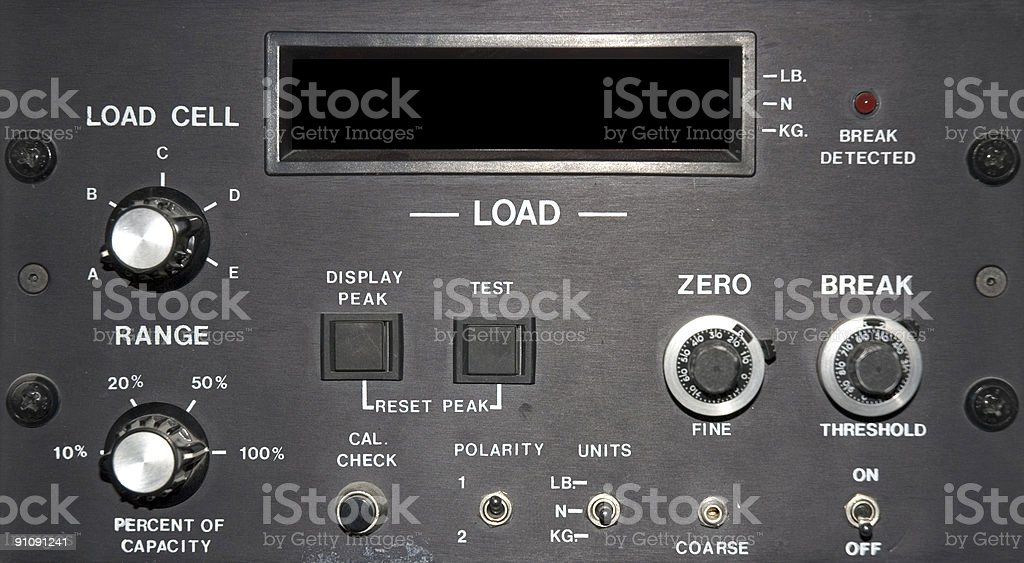 Load Cell Control Panel stock photo