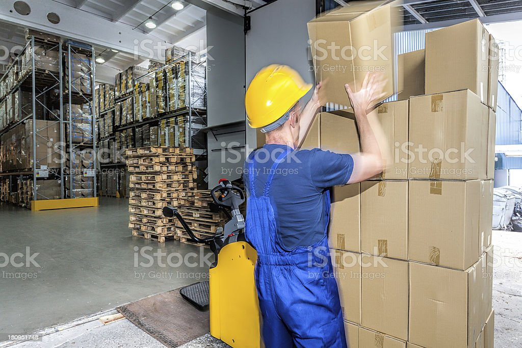 Load of boxes royalty-free stock photo