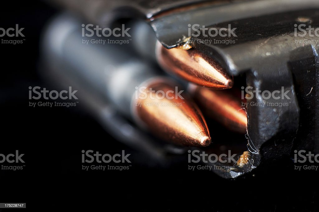 Loaded AK47 Magazine stock photo
