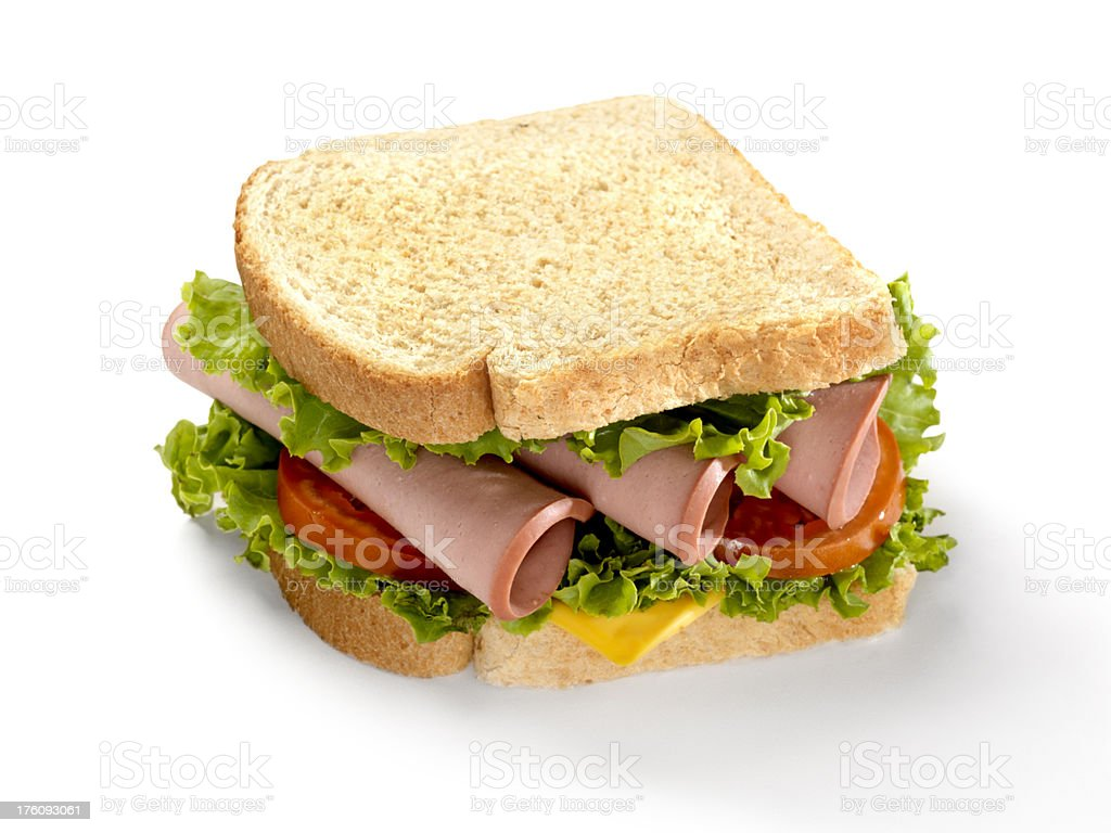 Loaded Bologna Sandwich stock photo