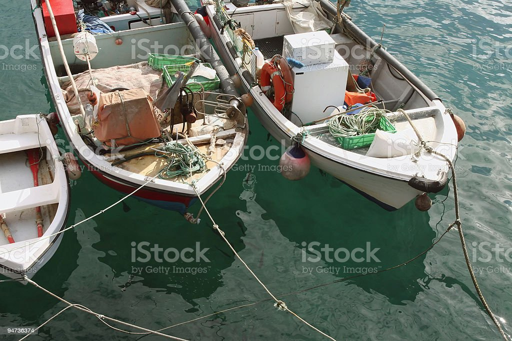 Loaded Fisherboats royalty-free stock photo