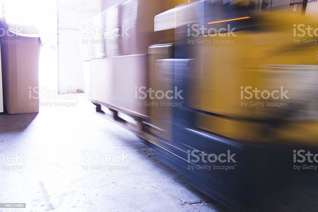 Loaded forklift royalty-free stock photo