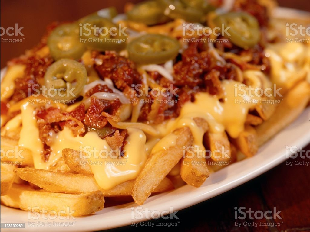 Loaded French Fries stock photo