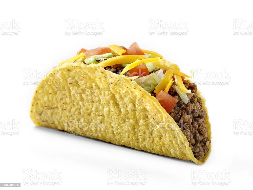 Loaded Hard Taco stock photo