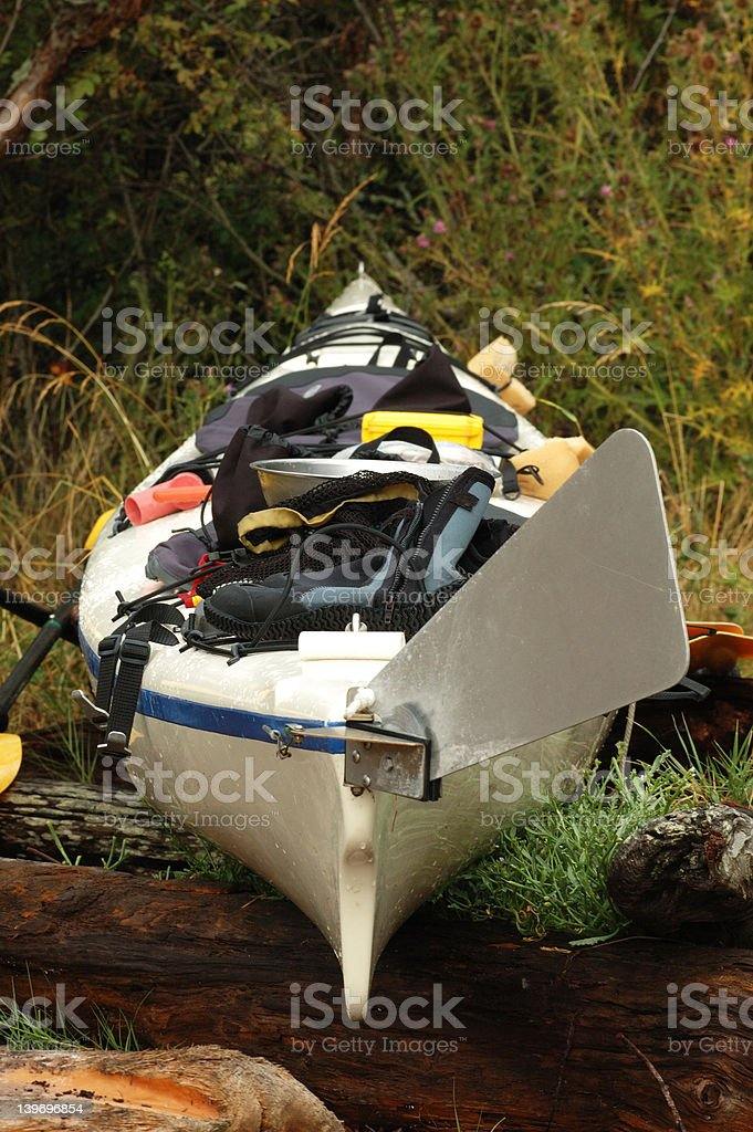 Loaded Kayak royalty-free stock photo
