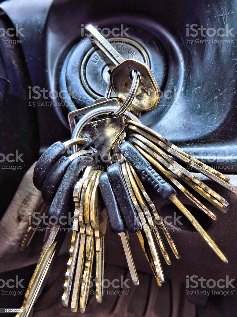 Loaded Key Ring stock photo