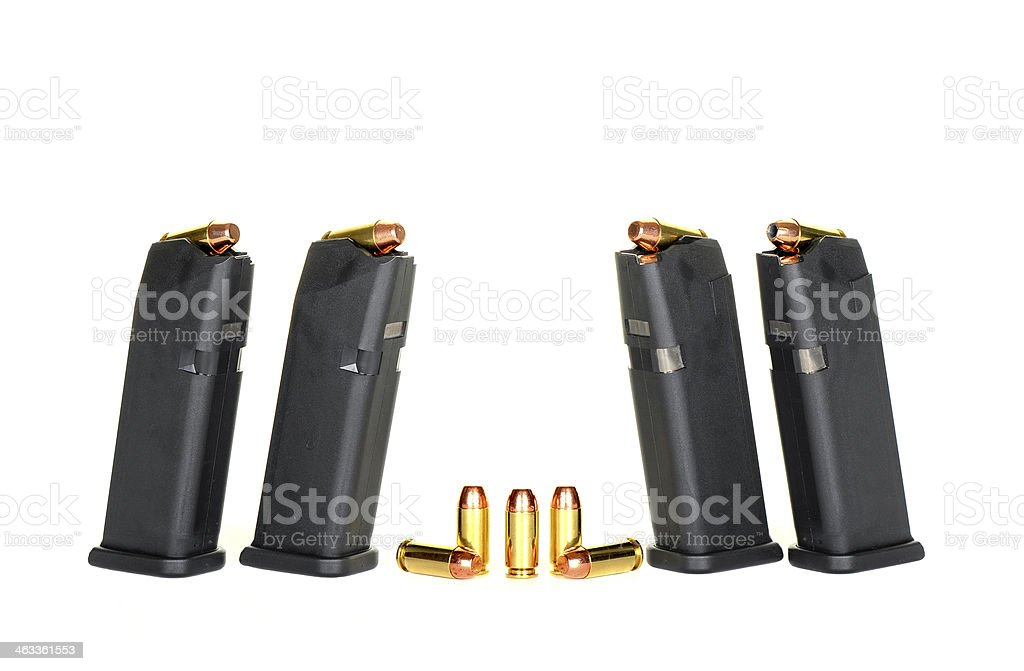 Loaded Magazines stock photo