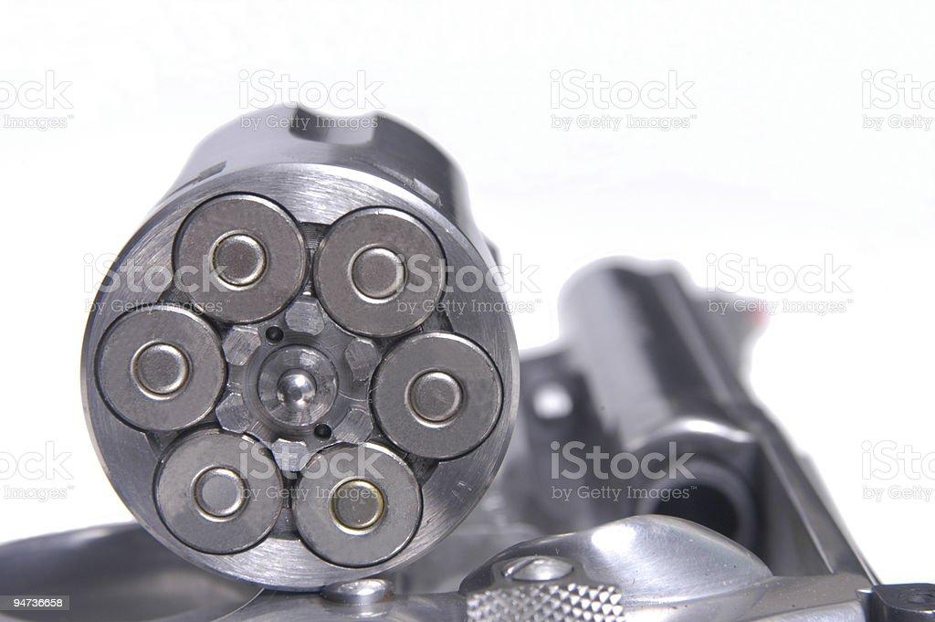 Loaded Revolver royalty-free stock photo