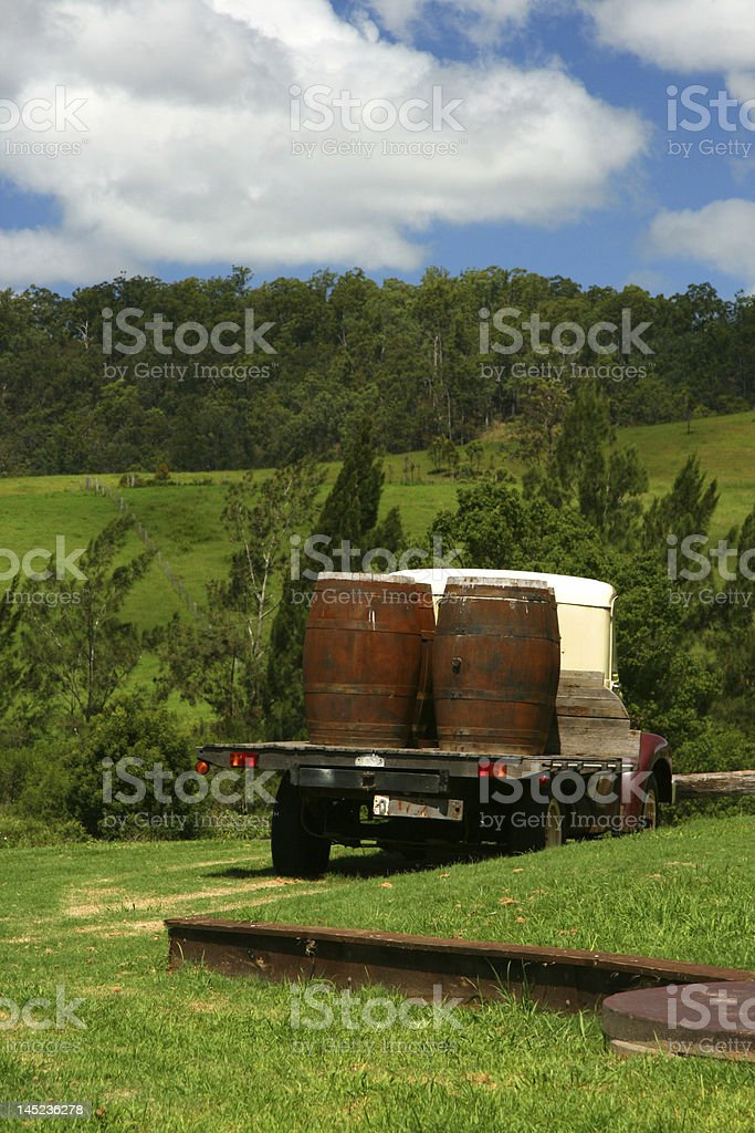 Loaded up Pick-Up Truck royalty-free stock photo
