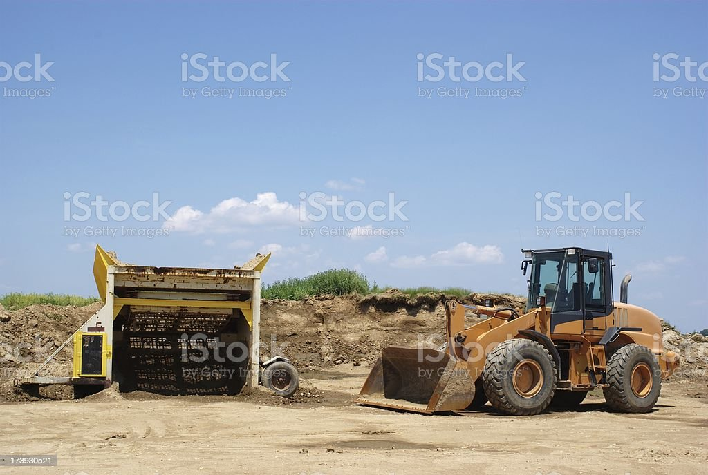 Loader and Screener stock photo