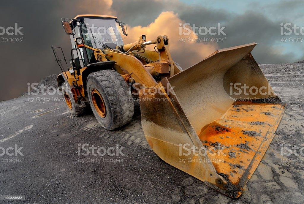 Loader excavator stock photo