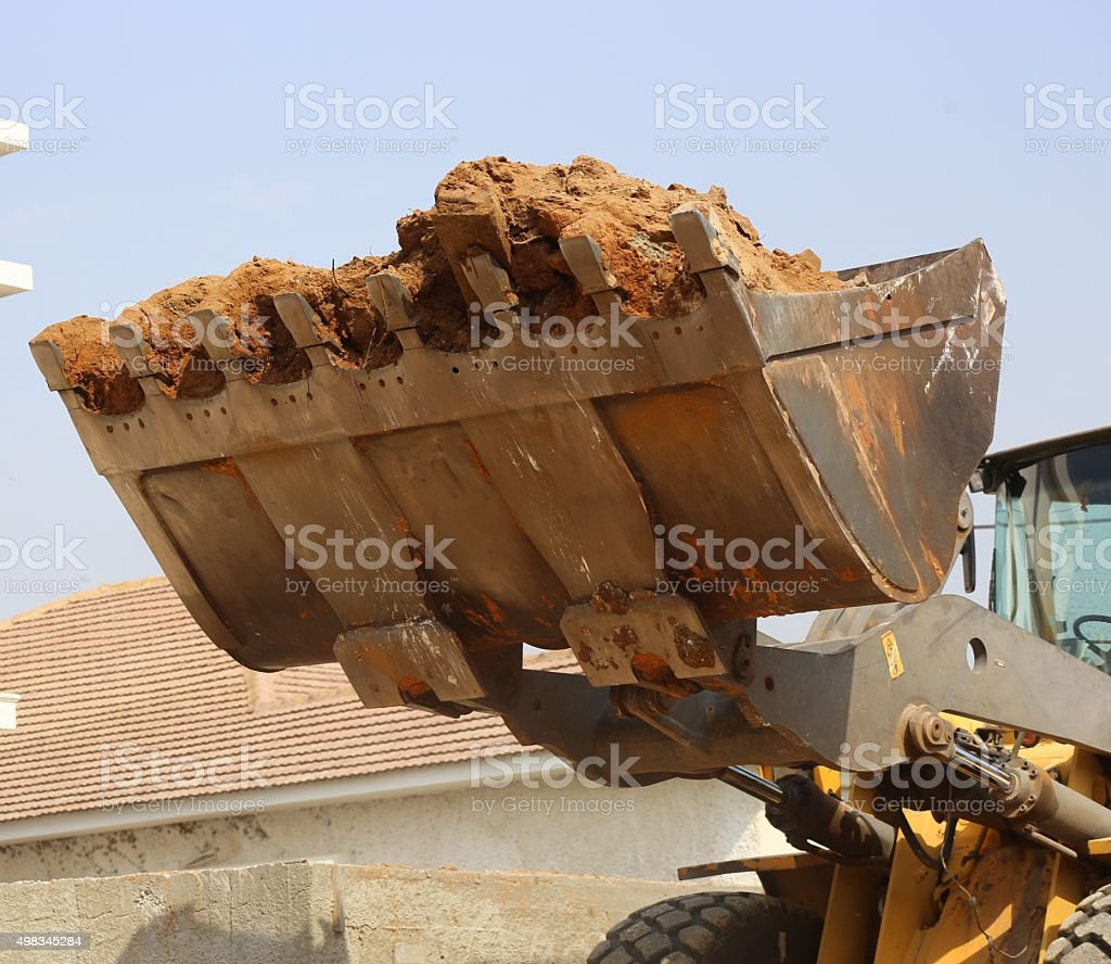 Loader Rock Bucket stock photo