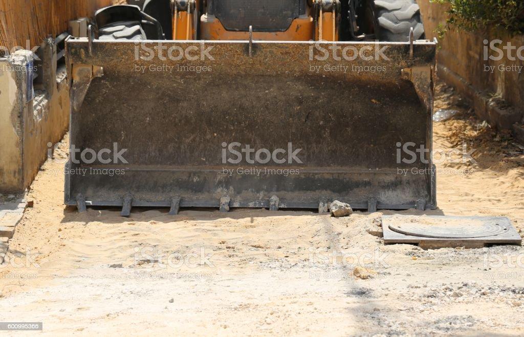 Loader Rock Bucket. stock photo