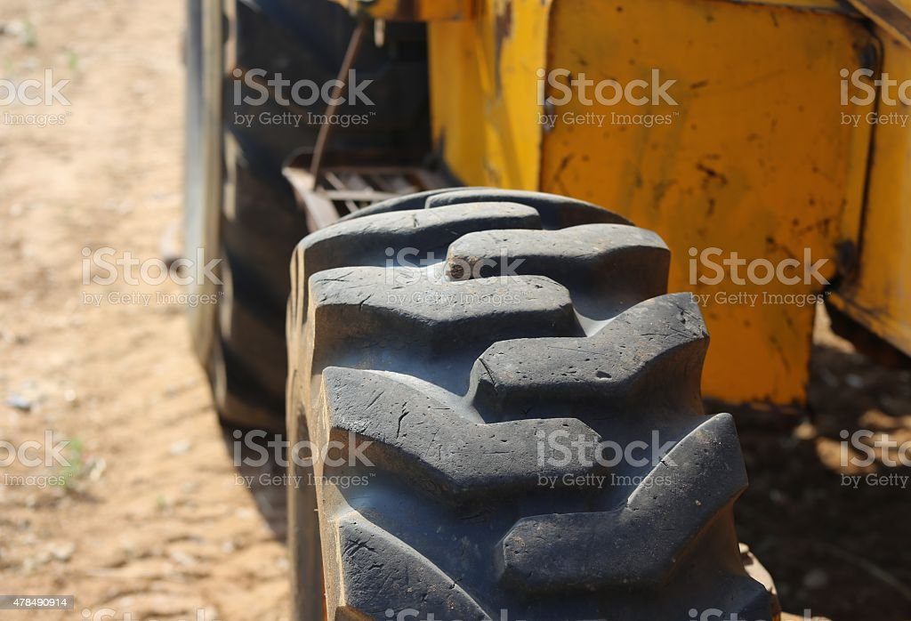 Loader tire stock photo