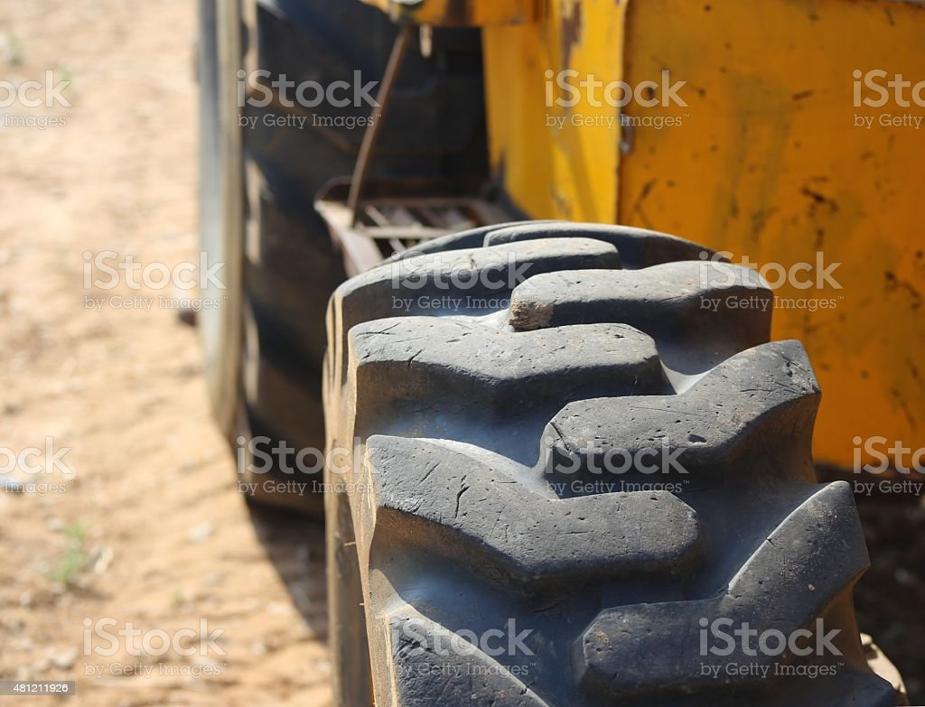 Loader tire. stock photo