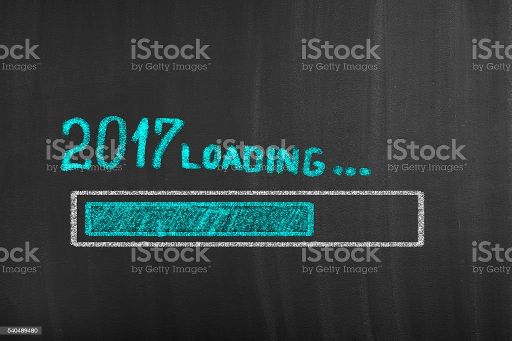 Loading 2017 year bar stock photo