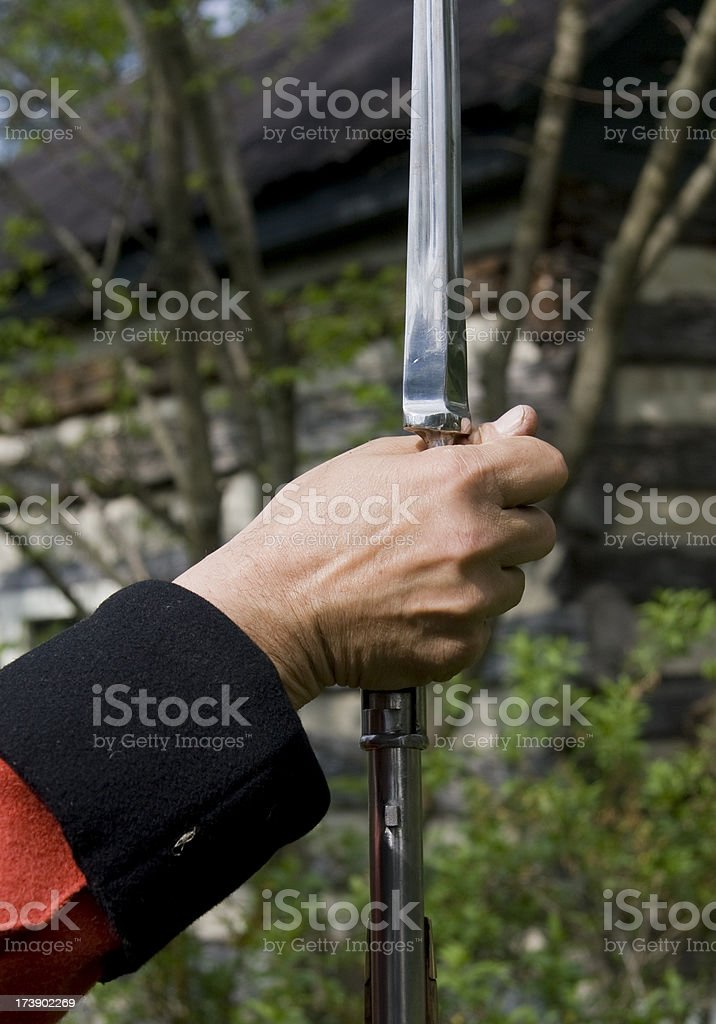 Loading a Bayonet royalty-free stock photo