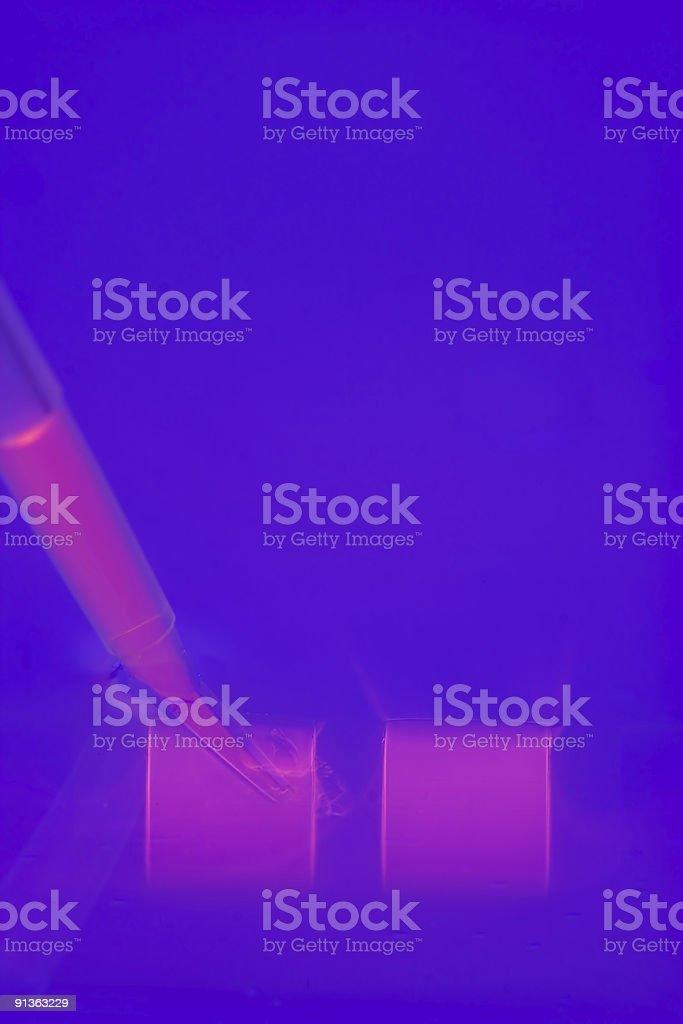 loading a DNA agaraose gel royalty-free stock photo
