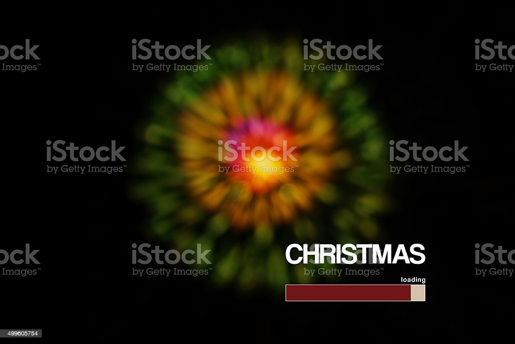Loading and Countdown to Christmas, stock photo
