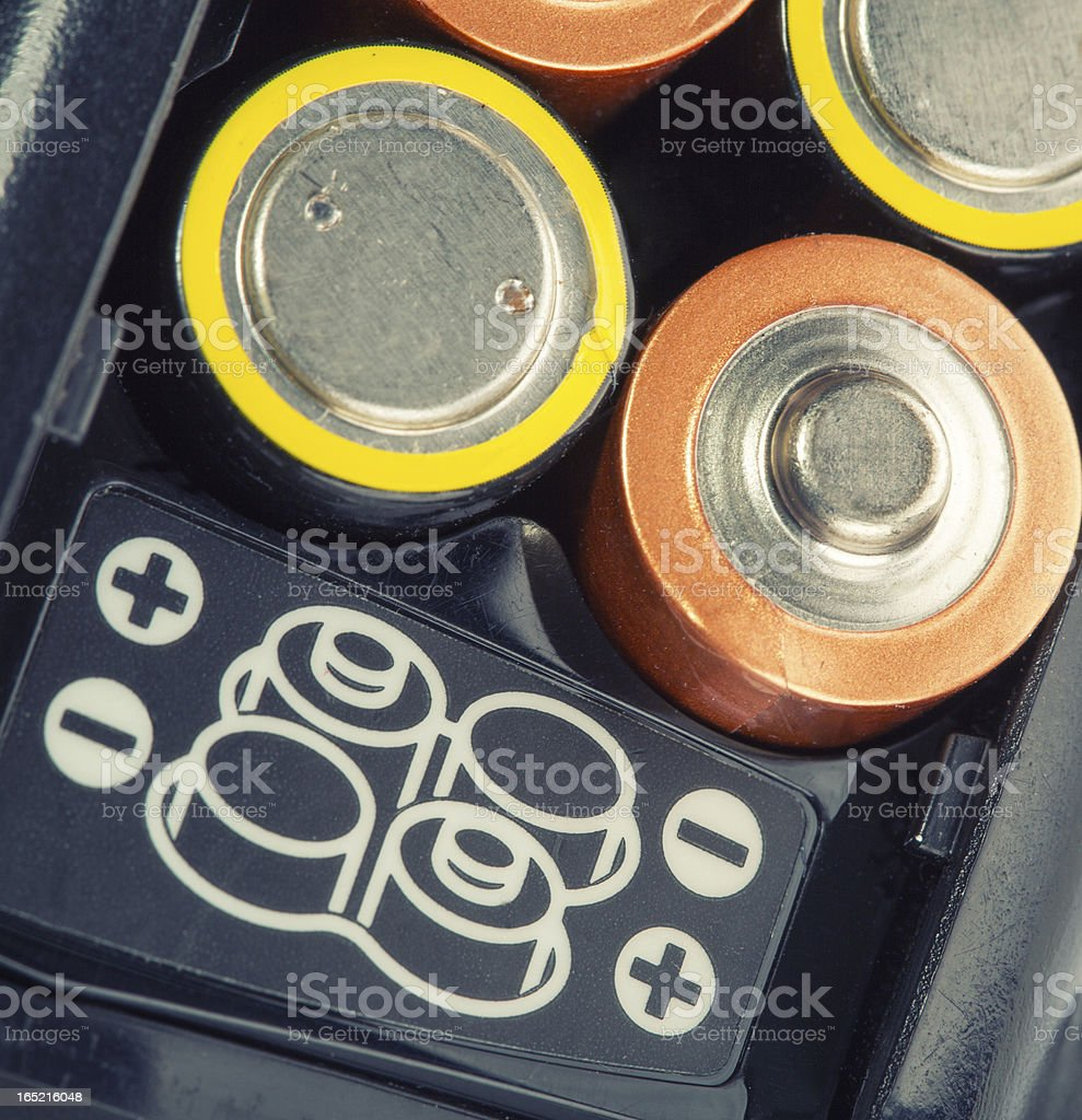 Loading batteries royalty-free stock photo