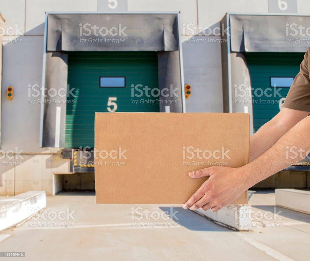 Loading bay for trucks horizontal royalty-free stock photo