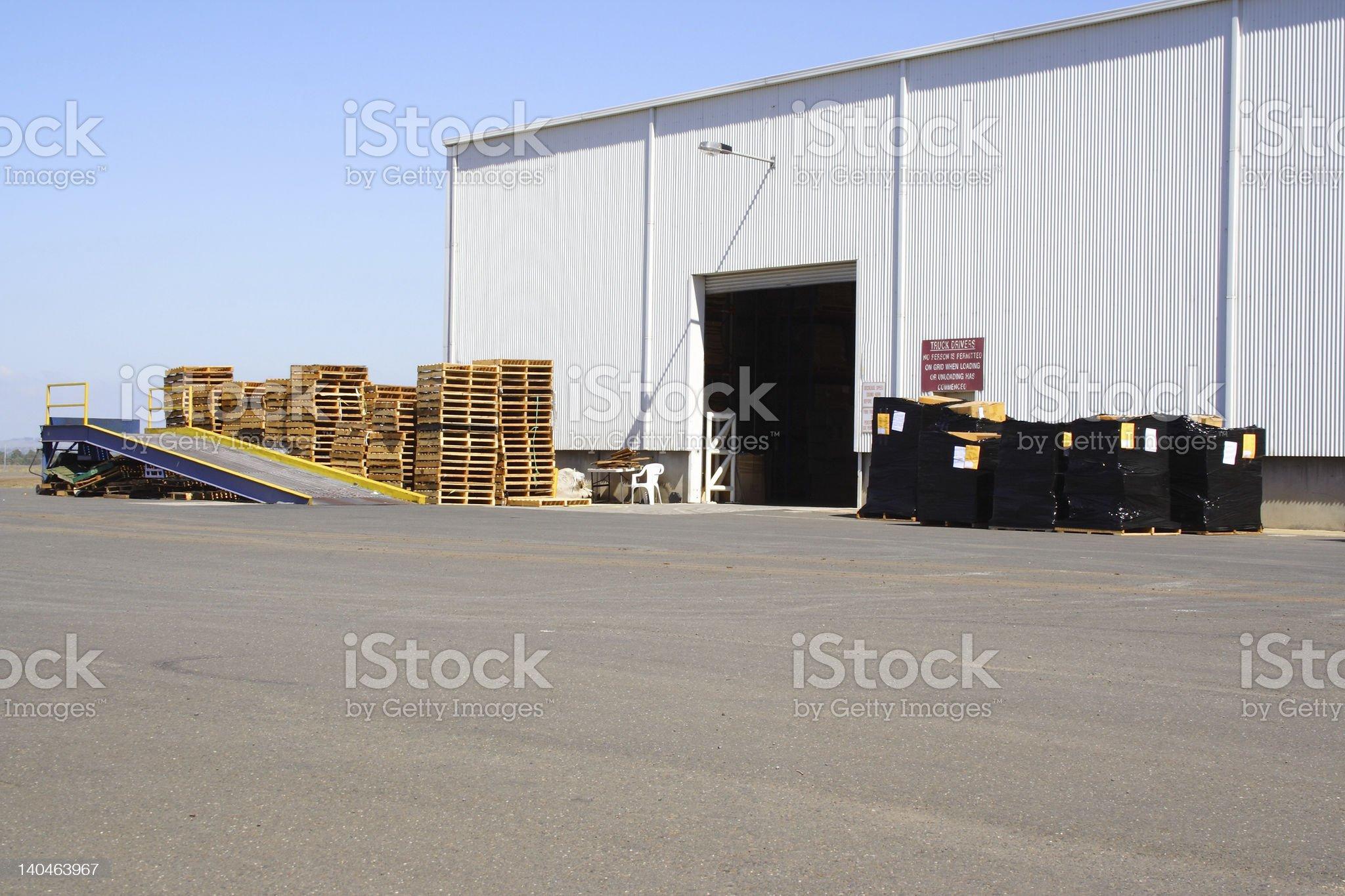 Loading bay royalty-free stock photo