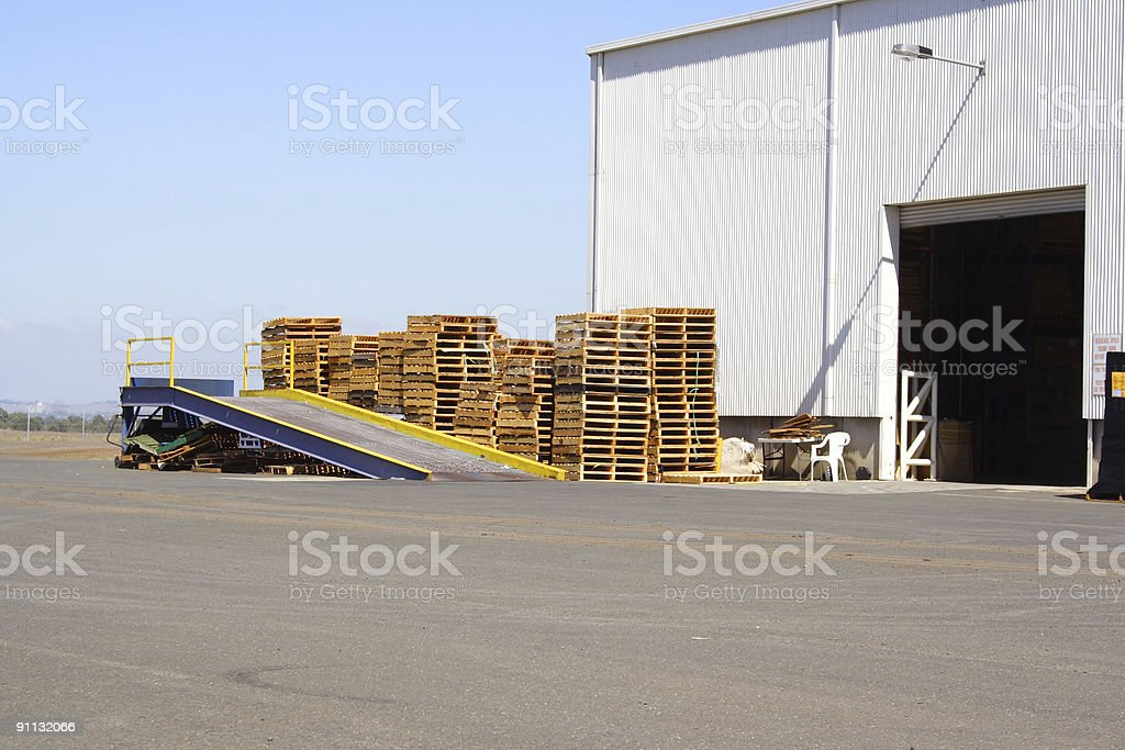 Loading bay royalty-free stock photo