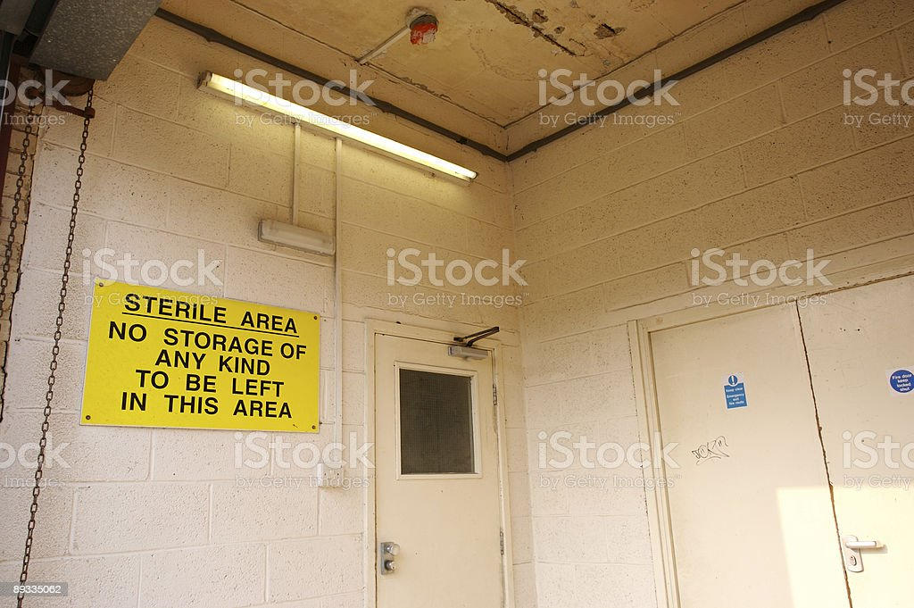 Loading Bay - Sterile Area royalty-free stock photo