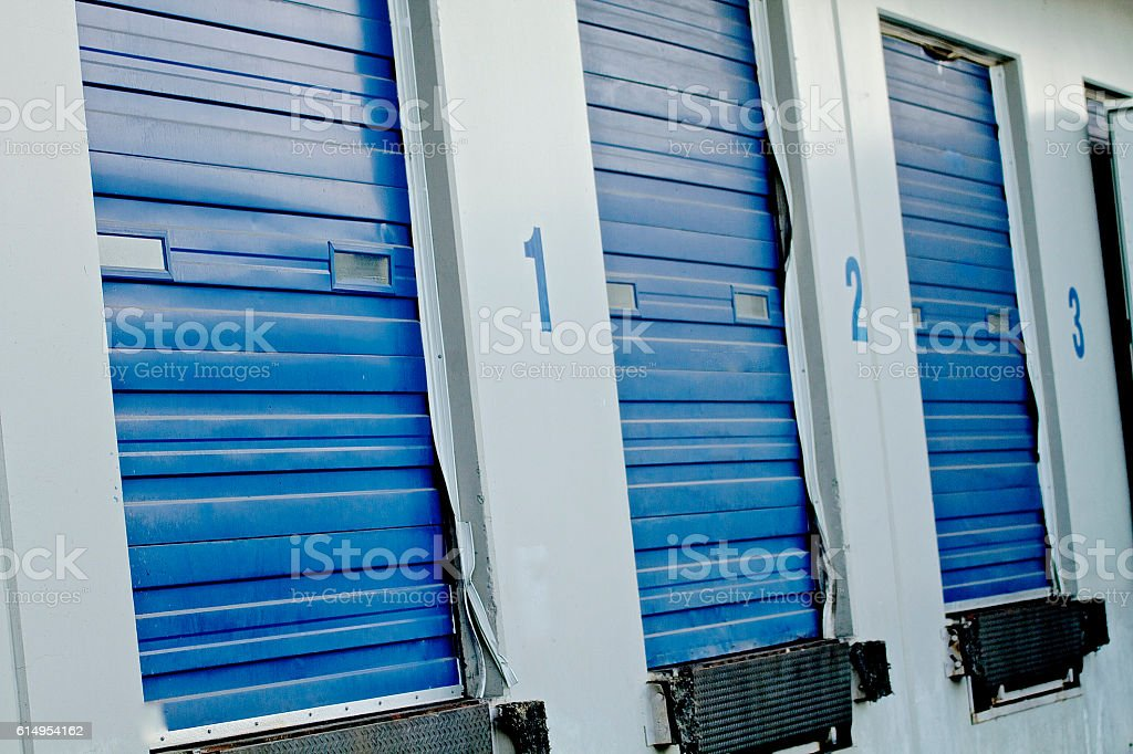 Loading Bays stock photo