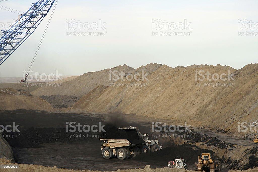Loading Coal Trucks stock photo
