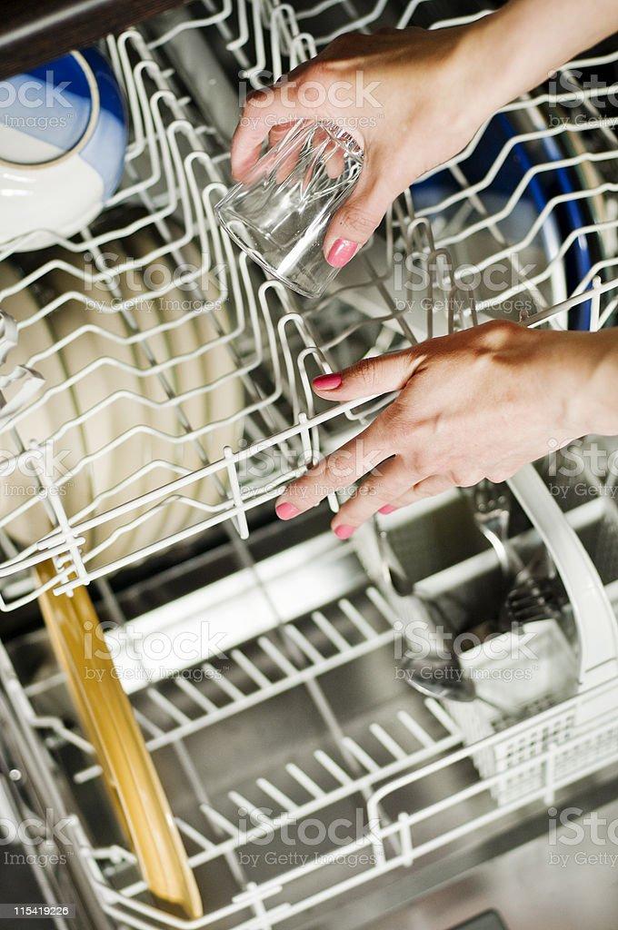 loading dishwasher royalty-free stock photo