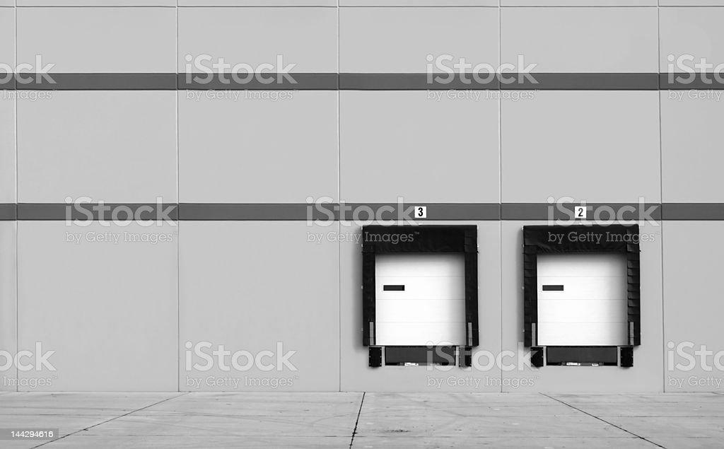 Loading Dock bays royalty-free stock photo
