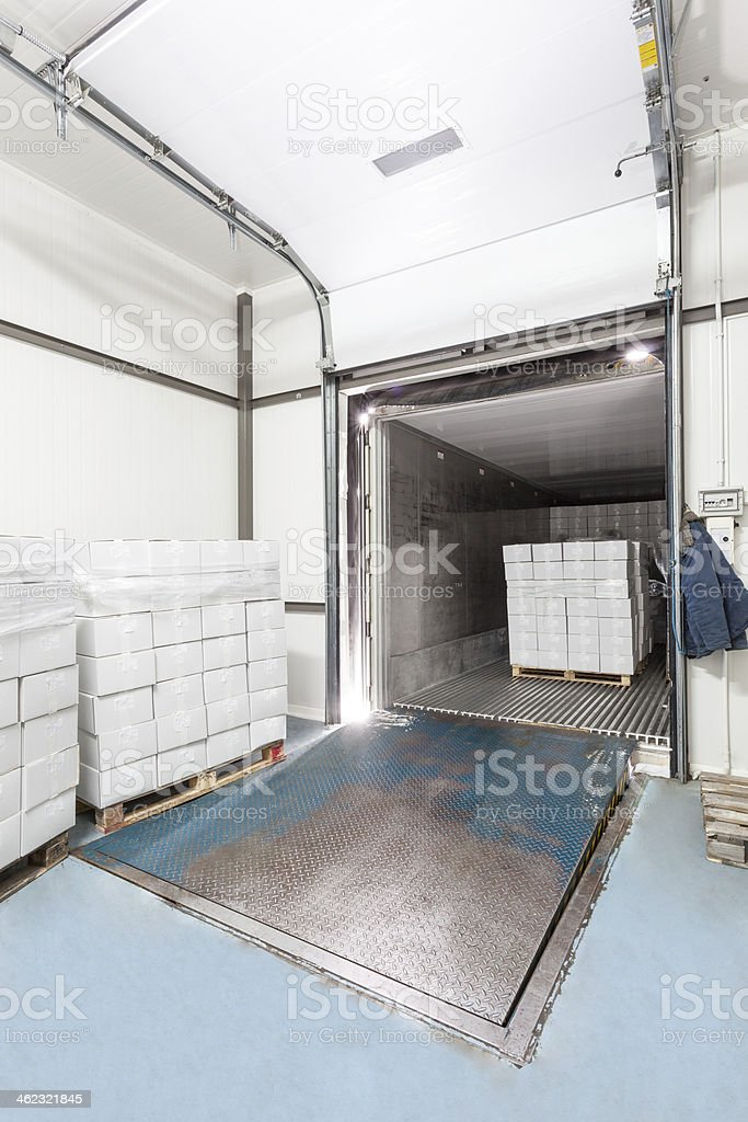 Loading dock stock photo