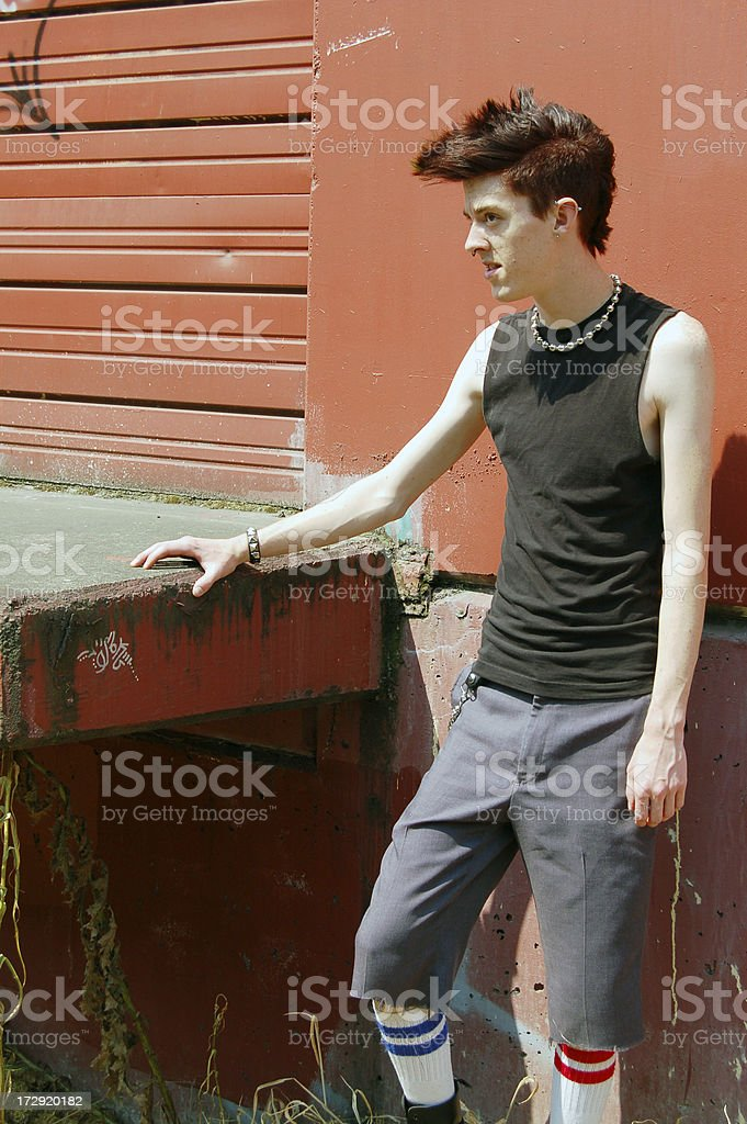 Loading Dock Punk stock photo