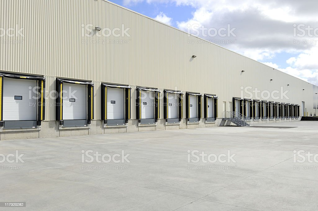 Loading docks stock photo