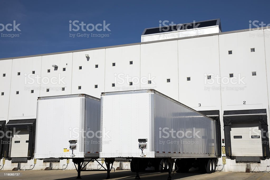 Loading docks royalty-free stock photo