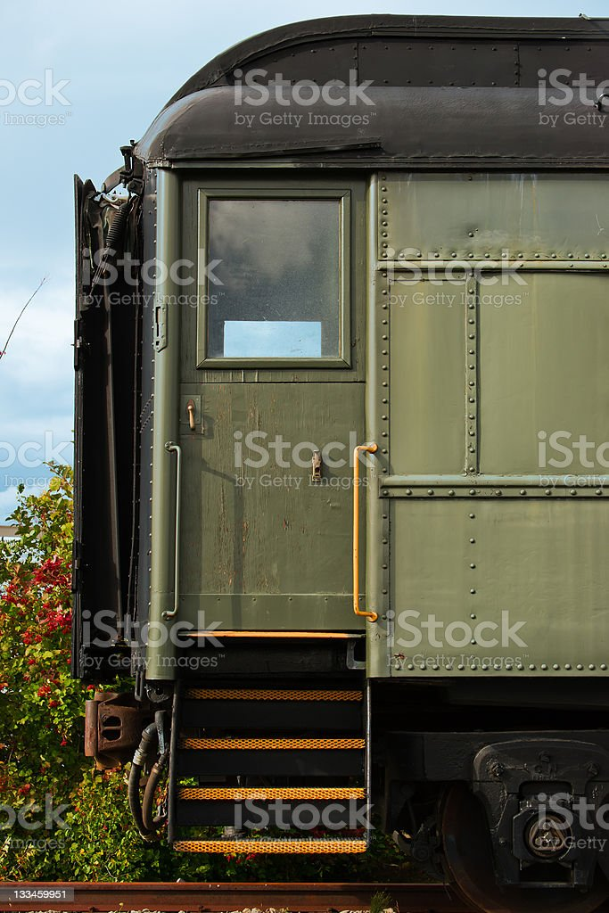 Loading Door of Antique Train royalty-free stock photo
