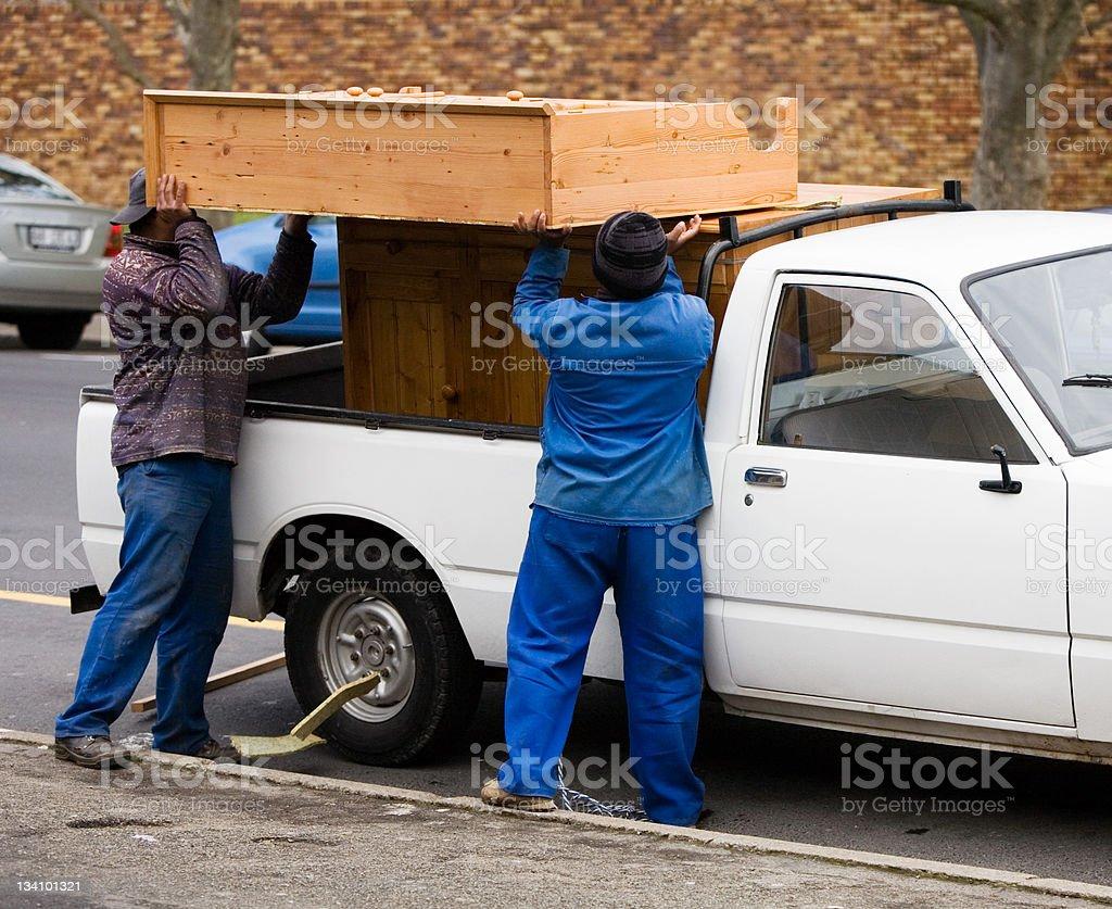 Loading furniture stock photo