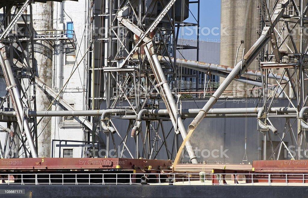 Loading grain royalty-free stock photo