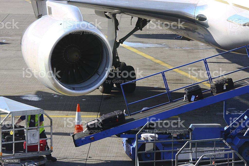 Loading luggage royalty-free stock photo