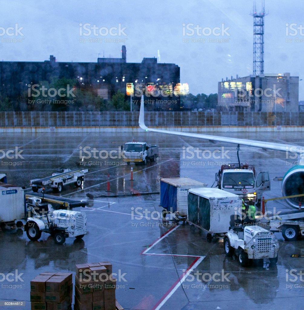 Loading Luggage stock photo