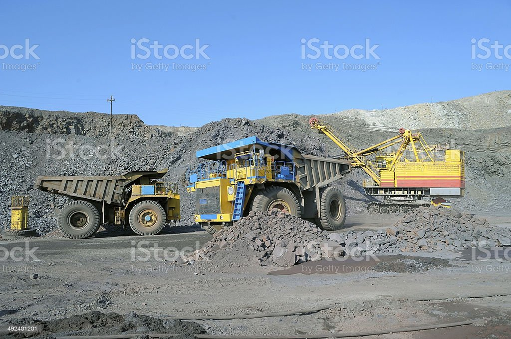 Loading of iron or stock photo