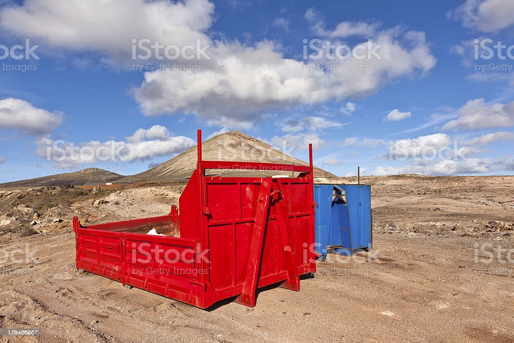 loading platform for lorry in volcanic area royalty-free stock photo