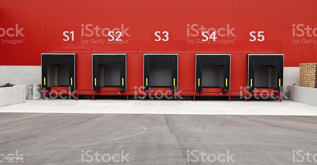 Loading platform stock photo
