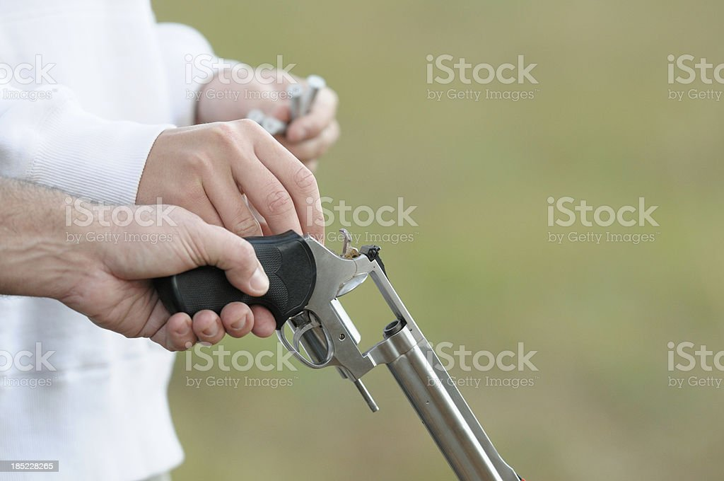 Loading revolver with copy space royalty-free stock photo