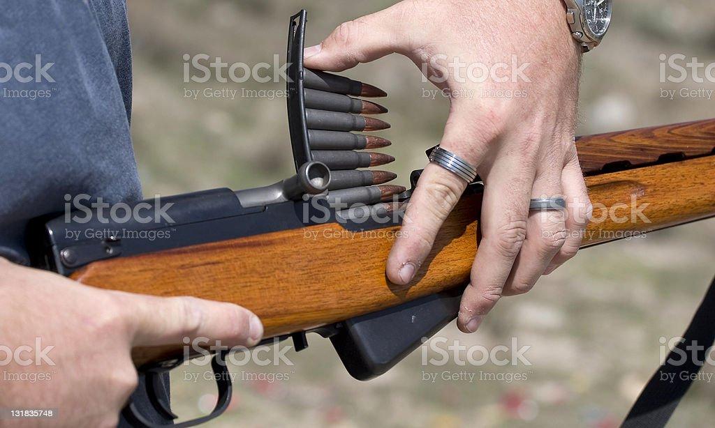 Loading Rifle stock photo
