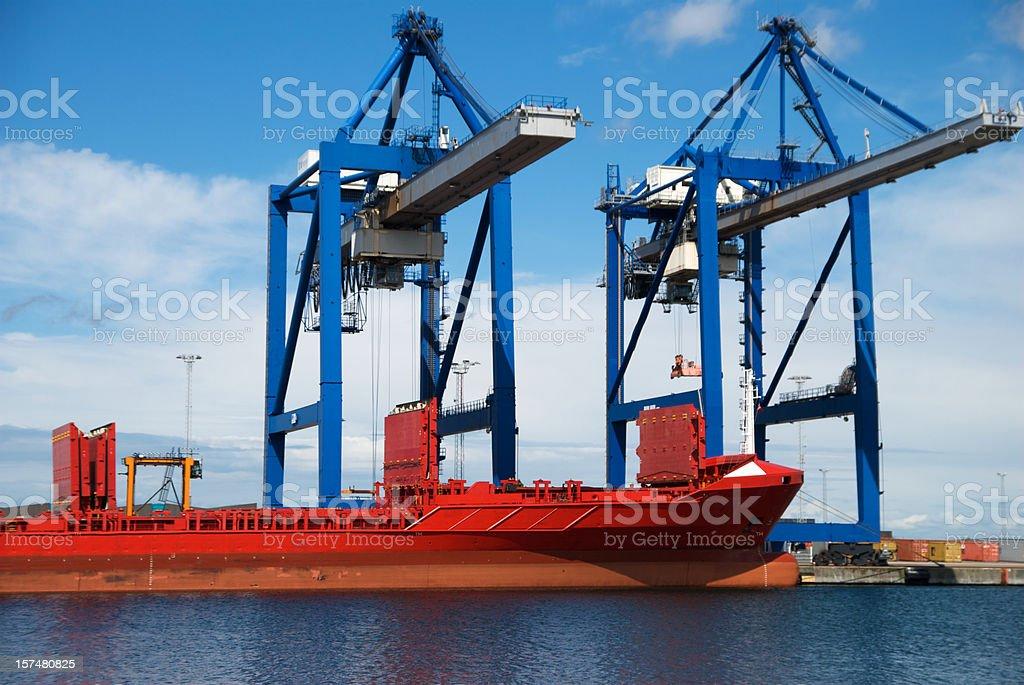 Loading ship royalty-free stock photo