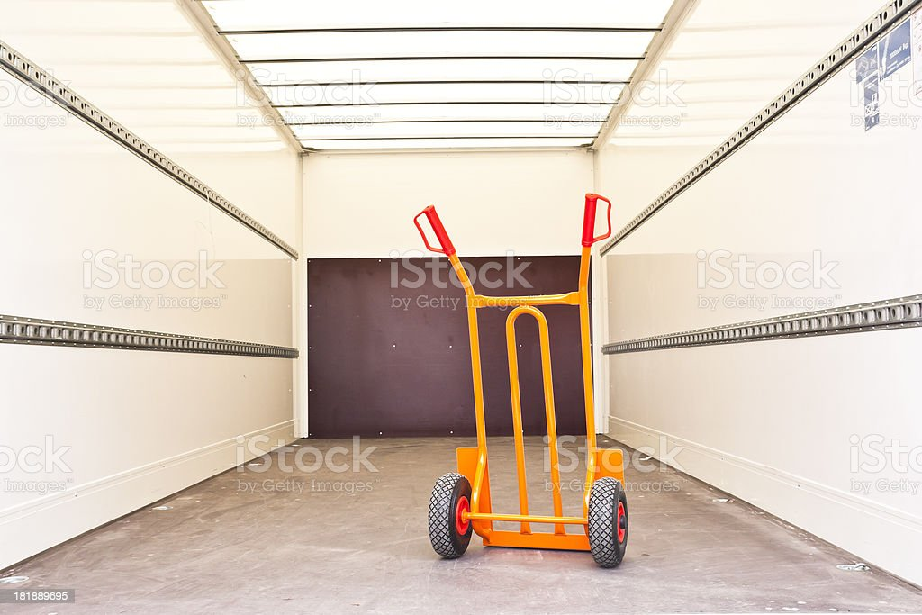 Loading Space with Hand Truck stock photo